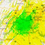 VAPN VHF 6m Coverage Area - 200 x 200 km