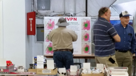 Visitor to the VAPN poster at Manassas Ham Fest 2016
