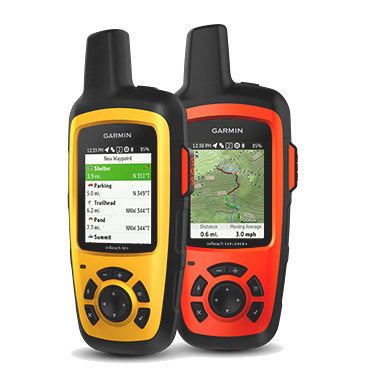 Photo of Garmin's inReach SE+ and inReach Explorer+ handheld satellite communicators.