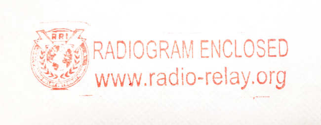 RRI Radiogram Stamp